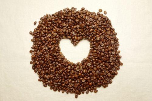 コーヒー豆,ハート型