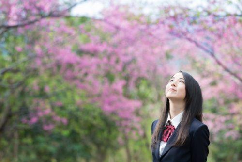 入学,卒業,桜,女子学生