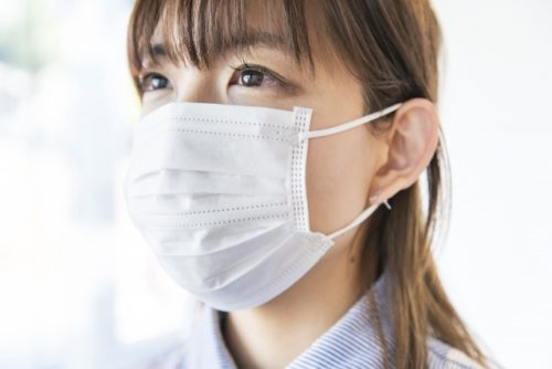 マスク,女性