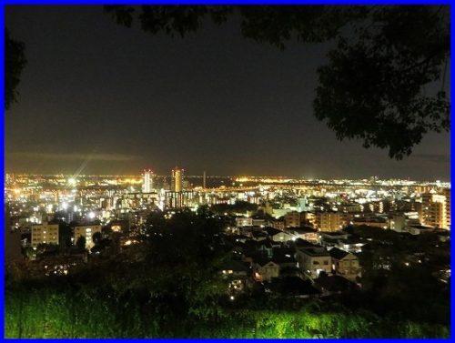 神戸大学,夜景