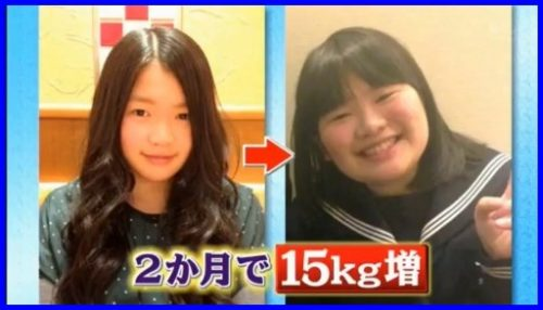 富田望生,太った